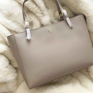 Tory Burch Large French Gray Tote Bag